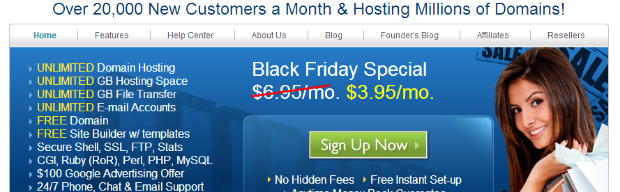 Bluehost black friday sale 1 dollar off Best black friday and cyber monday deals 2012