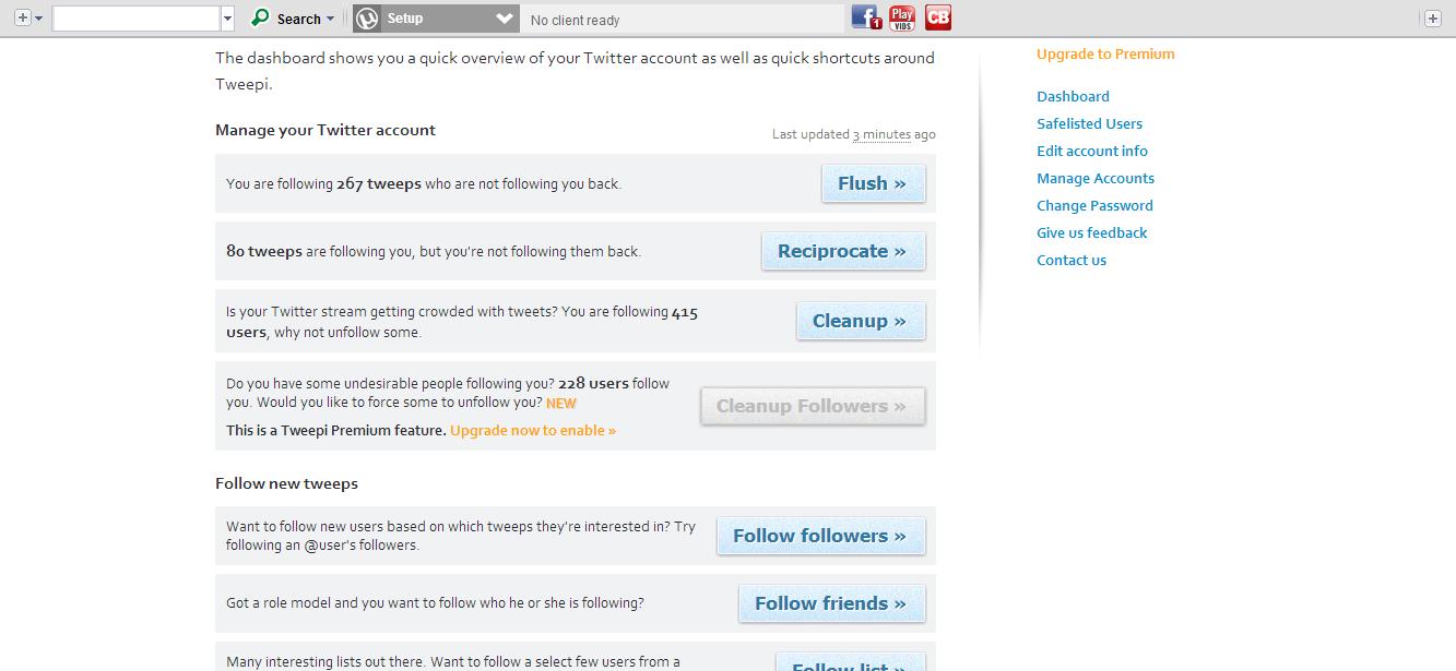 Tweepi v2 0    a geekier faster way to bulk add quality followers    Tweepi tweepi com dashboard How to add followers to your twitter account