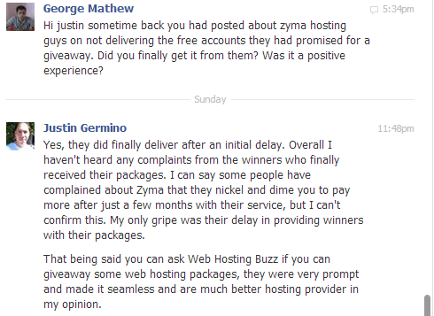 4 Justin Germino Messages Zyma review: Why Zyma is the worst hosting provider?