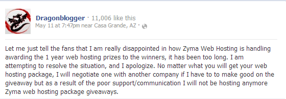 Dragonblogger Let me just tell the fans that I am really... Zyma review: Why Zyma is the worst hosting provider?