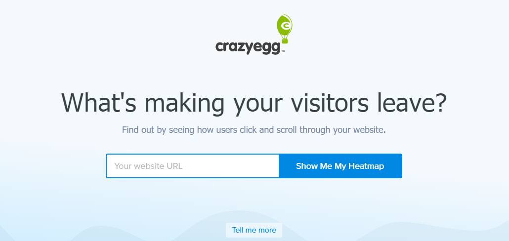 crazyegg homepage1 Does your long form copy get read?